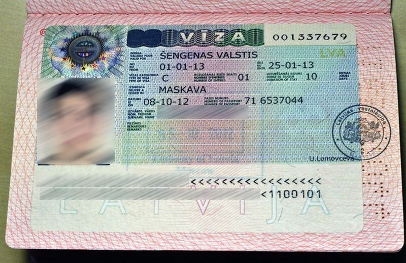 Виза в Латвию для россиян