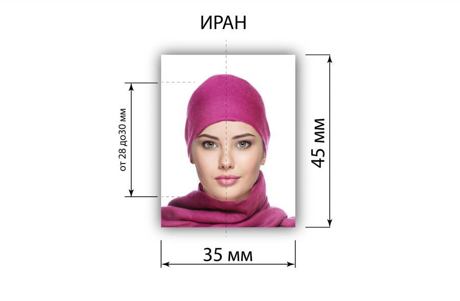 требования к фото на визу в иран