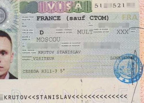 Документы на визу во Францию