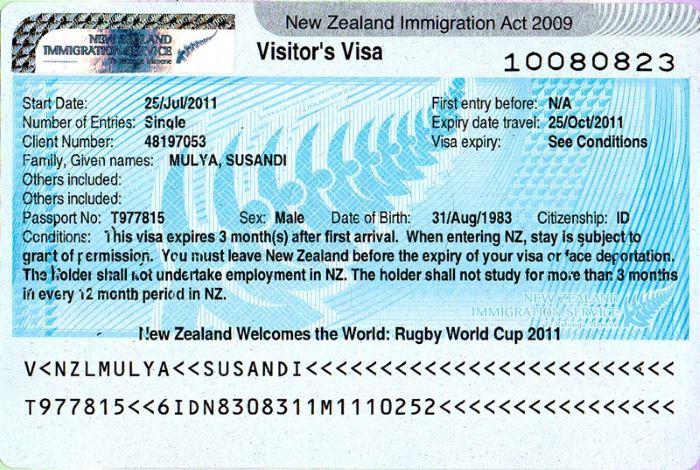 Виза в Новую Зеландию для россиян